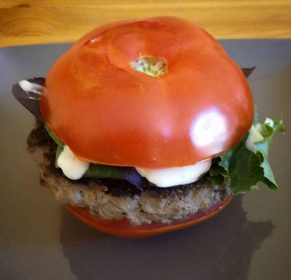 Burger healthy tomate